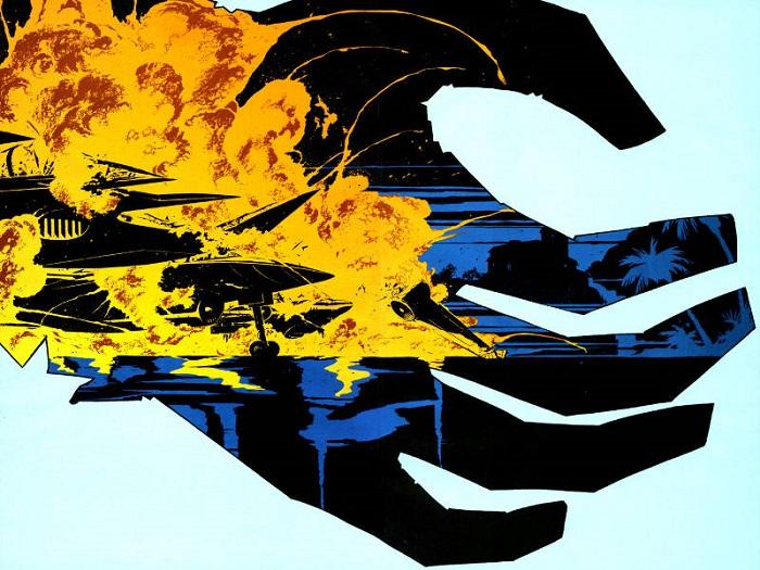 batman luva negra explosão