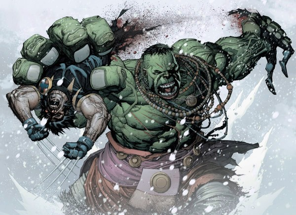 wolverine e hulk luta